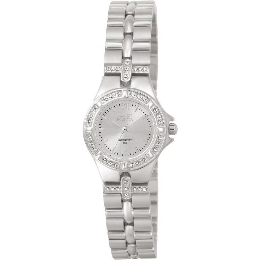 Invicta 0132 Women's Wildflower Quartz 3 Hand Silver Dial Small Size Watch