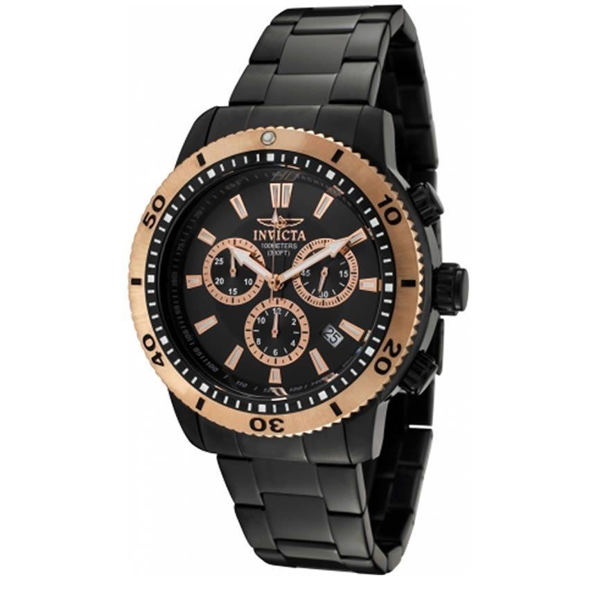 Invicta*  1206 Specialty Men's Quartz Chronograph Black Dial Watch