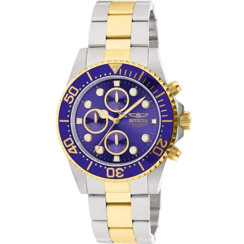 Invicta 1773 Men's Pro Diver Quartz Chronograph Blue Dial Watch