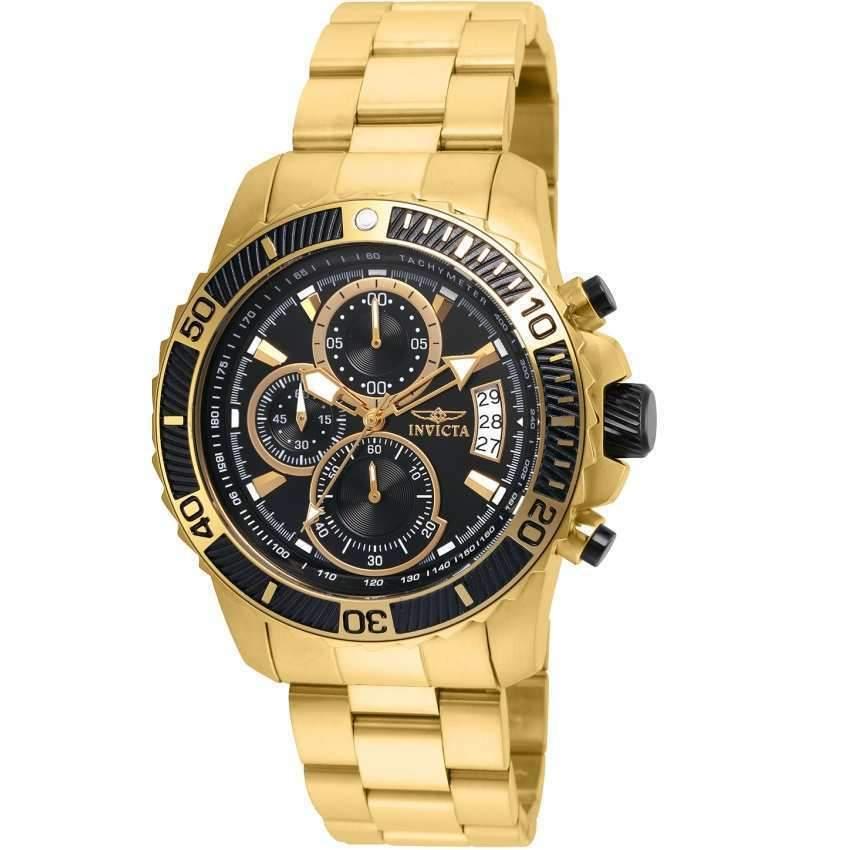 Invicta 22414 Men Pro Diver Quartz Multifunction Black Dial Watch