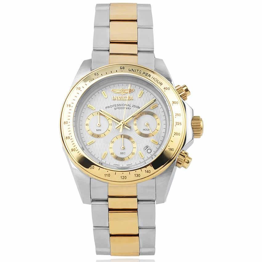 Invicta 7029 Men's Signature Quartz Chronograph White Dial Watch