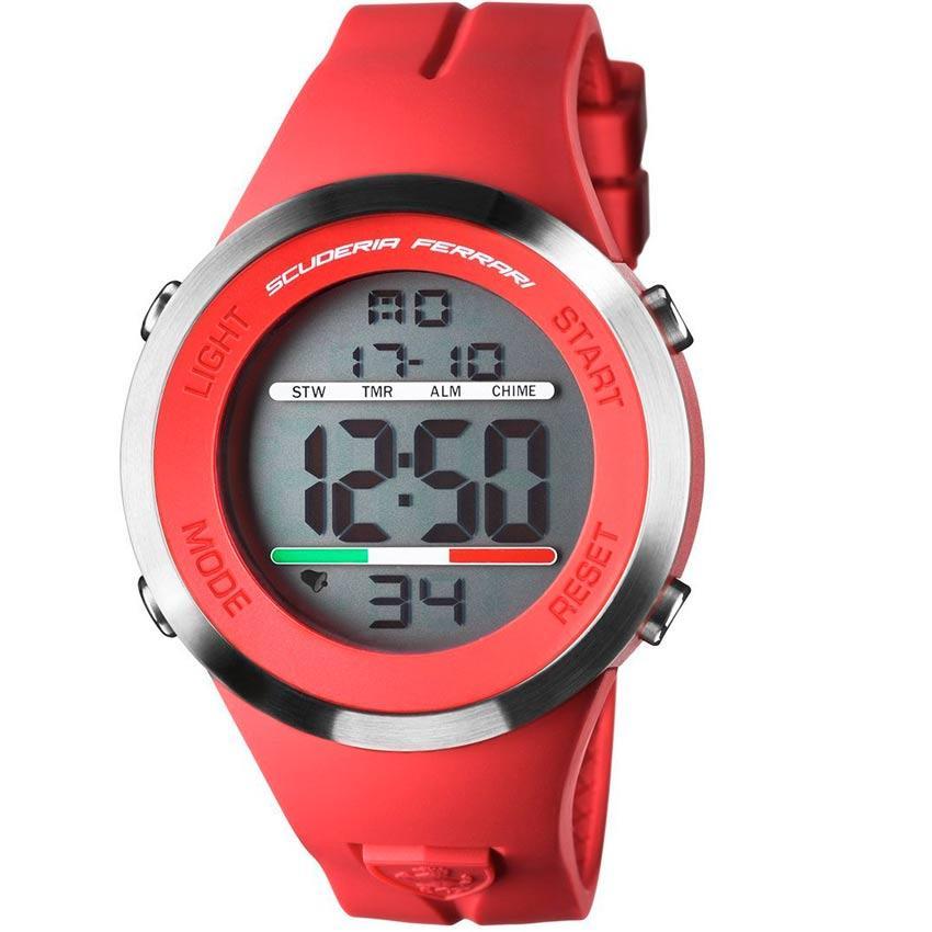 Ferrari 830370 Men's Digital Sports Red Rubber Watch