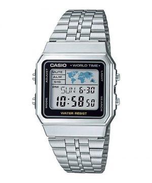 Casio A500WA-1 Men's Classic Silver-Tone Watch