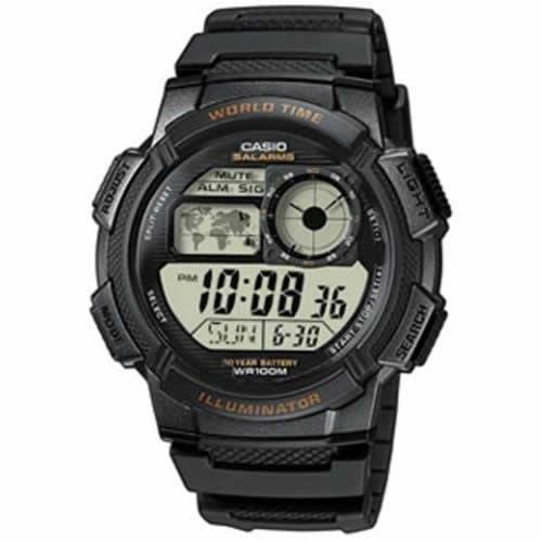Casio AE1000W-1AV Men's Resin Sport Watch with Black Band