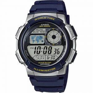 Casio AE1000W-2AV Men's Sport Dark Blue Resin Band Medium Watch