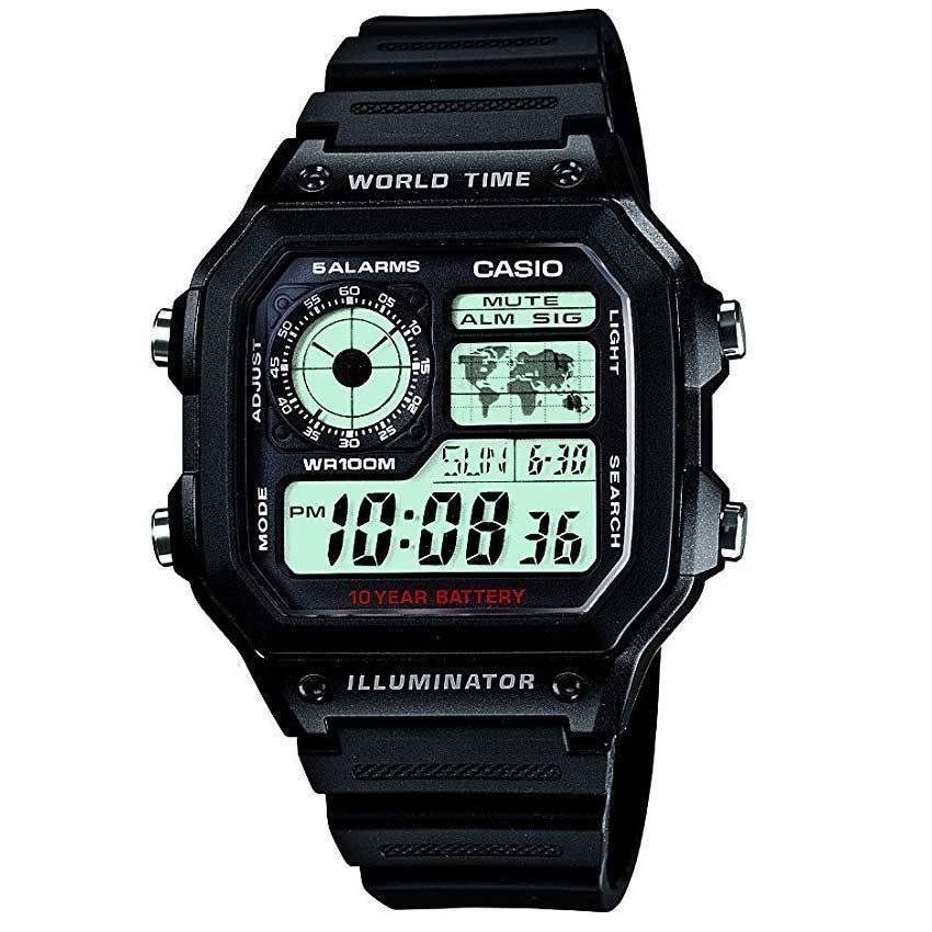 Casio AE1200WH-1AV Men's Digital Black Plastic Quartz Watch
