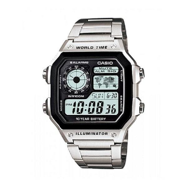 Casio AE1200WHD-1AV Men's Digital Stainless Steel Watch