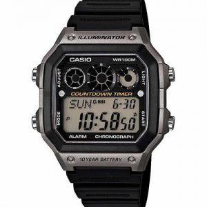 Casio AE1300WH-8AV Men's Digital Black Rubber Quartz Watch