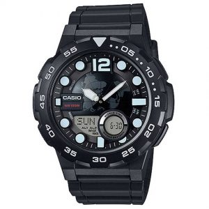 Casio AEQ100W-1AV Men's 3D Dial Quartz Watch