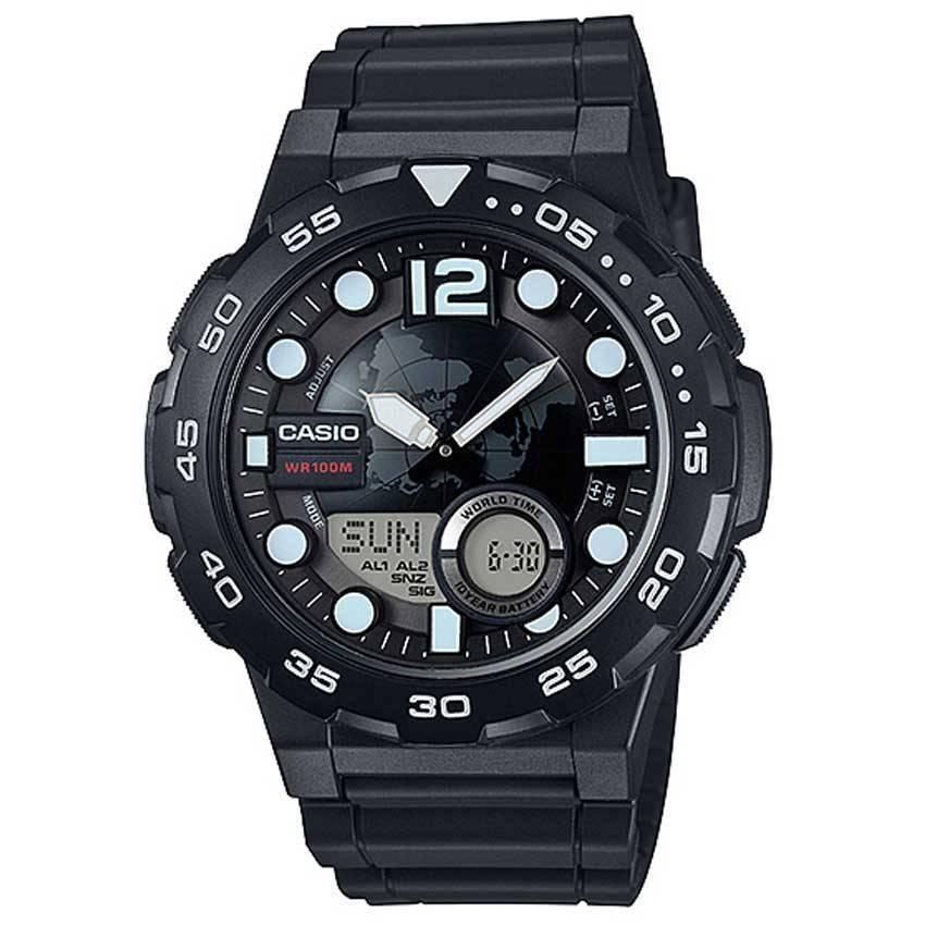 Casio AEQ100W-1AV Men's 3D Dial Quartz Watch