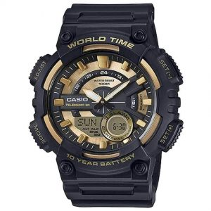 Casio AEQ110BW-9AV Men's 'Heavy Duty' Quartz Resin Watch