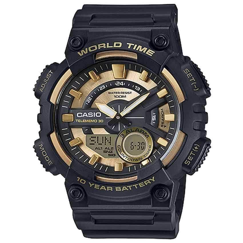 Casio AEQ110BW-9AV Men's 'Heavy Duty' Quartz Resin Watch