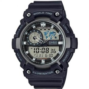Casio AEQ200W-1AV Men's Analog and Digital Quartz Black Watch