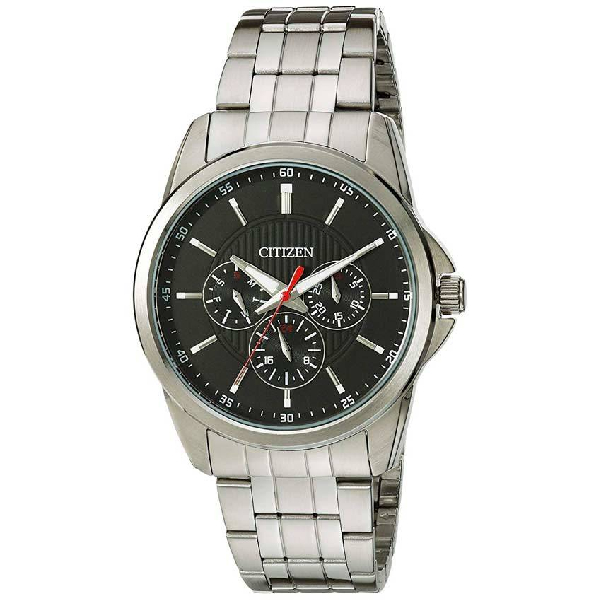 Citizen AG8340-58E Men's Quartz Black Dial  Stainless Steel Watch