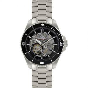 Rotary AGB90078/A/04 Men's Aquaspeed Swiss Made Silver Steel Skeleton Automatic Watch