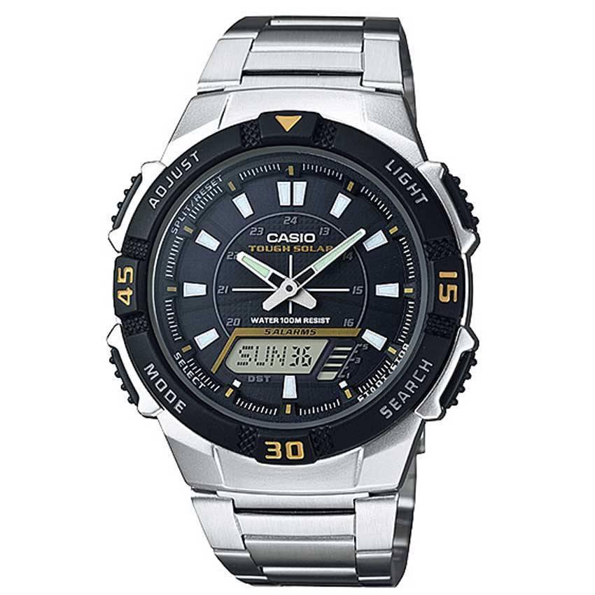Casio AQS800WD-1EV Men's Slim Solar Multi-Function Analog-Digital Watch