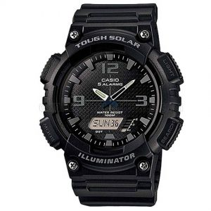 Casio AQS810W-1A2V Men's Black Solar Ana-Digi Sports Watch