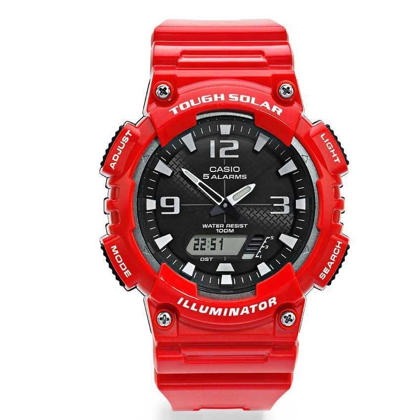 Casio AQS810WC-4AV Men's Red Analog-Digital Quartz Watch