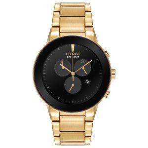 Citizen AT2242-55E Men's Axiom Eco-Drive Chronograph Gold Watch