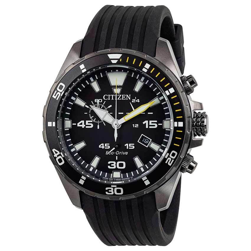 Citizen AT2437-13E Men's Eco-Drive Chronograph Silicon Watch