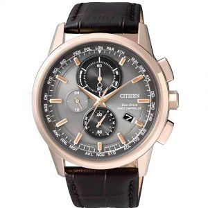 Citizen AT8113-12H Men's Eco-Drive Radio Controlled World Time Watch