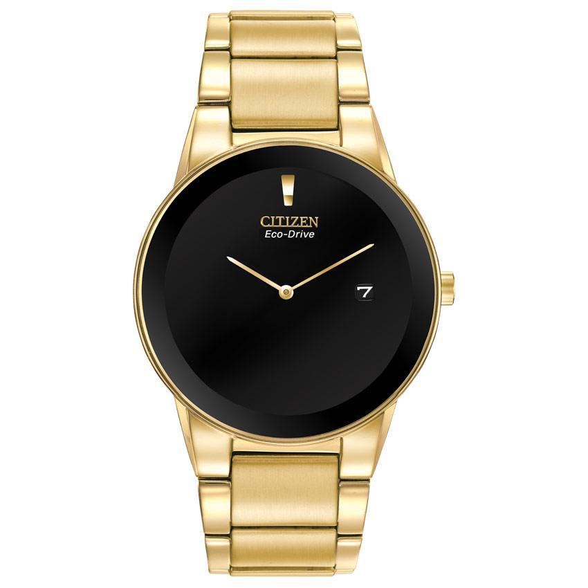 Citizen AU1062-56E Men's Axiom Black Dial Gold Black Dial Watch
