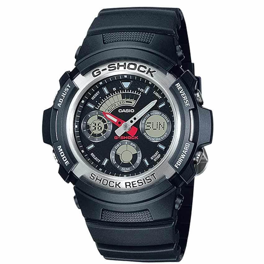 CASIO GENTS AW-590-1ADR G-SHOCK ANALOG-DIGITAL SPORT WATCH