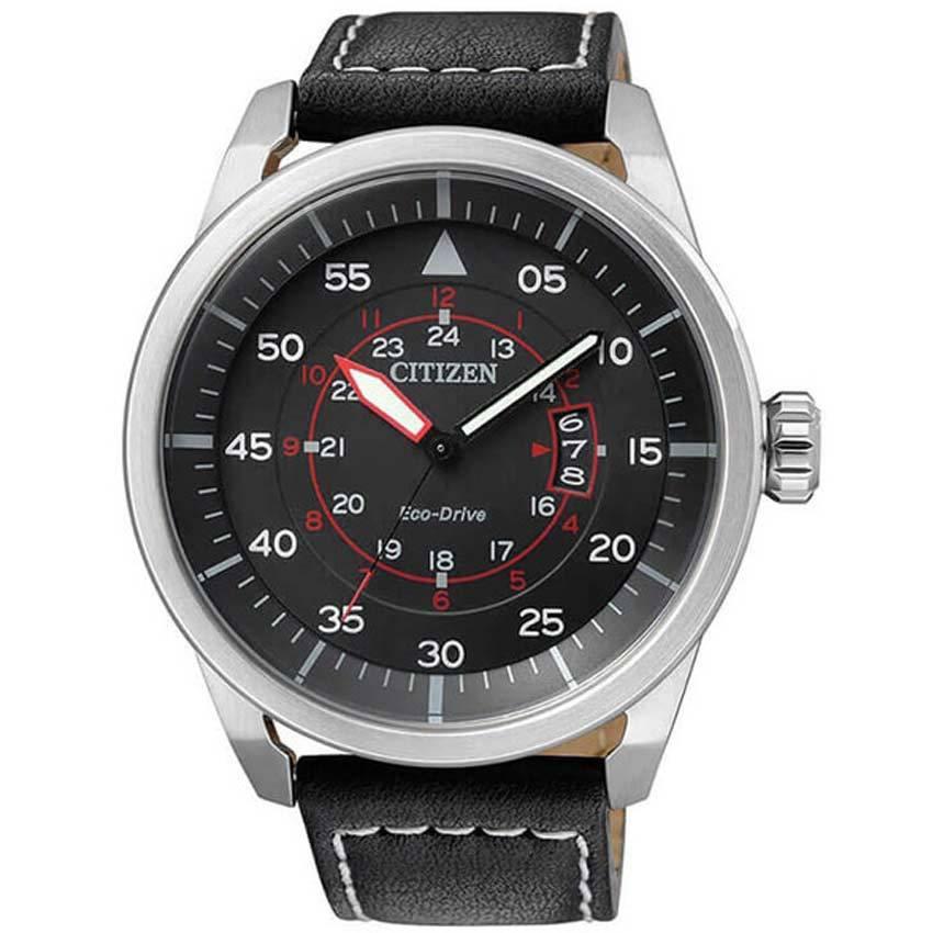 Citizen AW1360-04E Men's Eco-Drive Aviator Power Reserve Watch