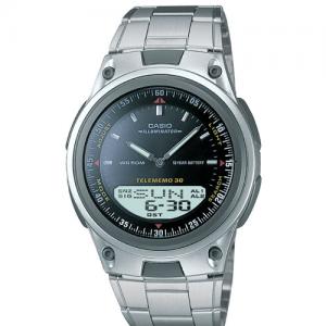 Casio AW80D-1AV Men's 10-Year Battery Ana-Digi Bracelet Small Size Watch