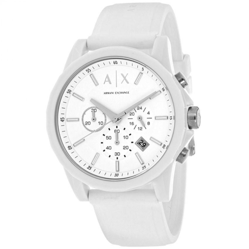 Armani Exchange AX1325 Men's  White Silicone Watch