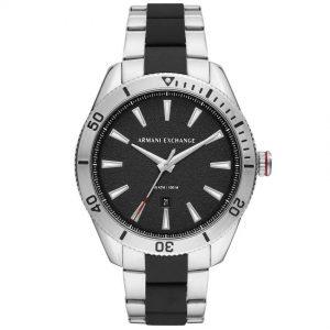 Armani Exchange AX1824 Men's Enzo Black Dial Two-Tone Bracelet Watch