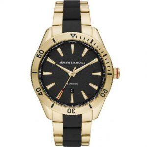 Armani Exchange AX1825 Men's Enzo Gold Case Two-Tone Bracelet Watch