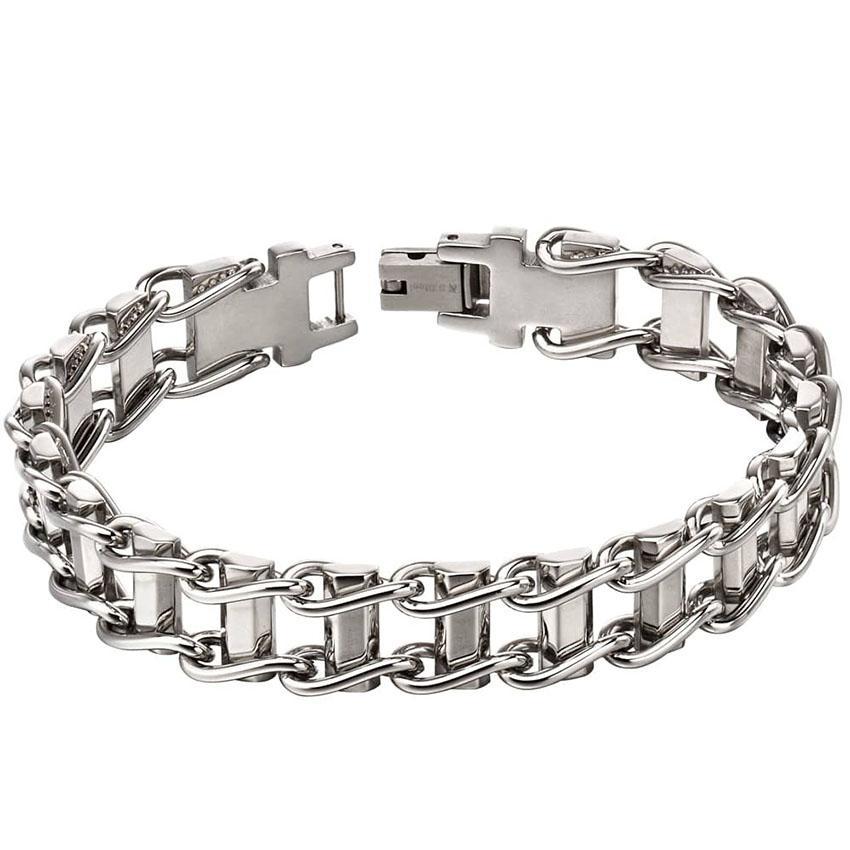 Fred Bennett B5116 Men's Silver Bike Chain Bracelet