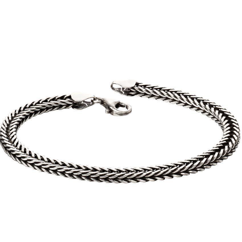 Fred Bennett B5126 Men's Classic Sterling Silver Bracelet