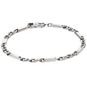 Fred Bennett B5142 Men's Stainless Steel Bar Link Chain Bracelet