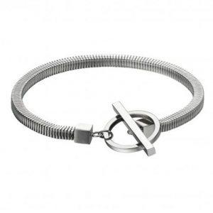 Fred Bennett B5166 Men's T Bar Stainless Steel Round Bracelet