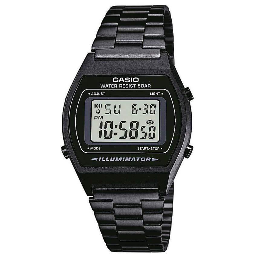 CASIO GENTS B640WB-1ADF METAL BASIC VINTAGE BLACK BRACELET WATCH