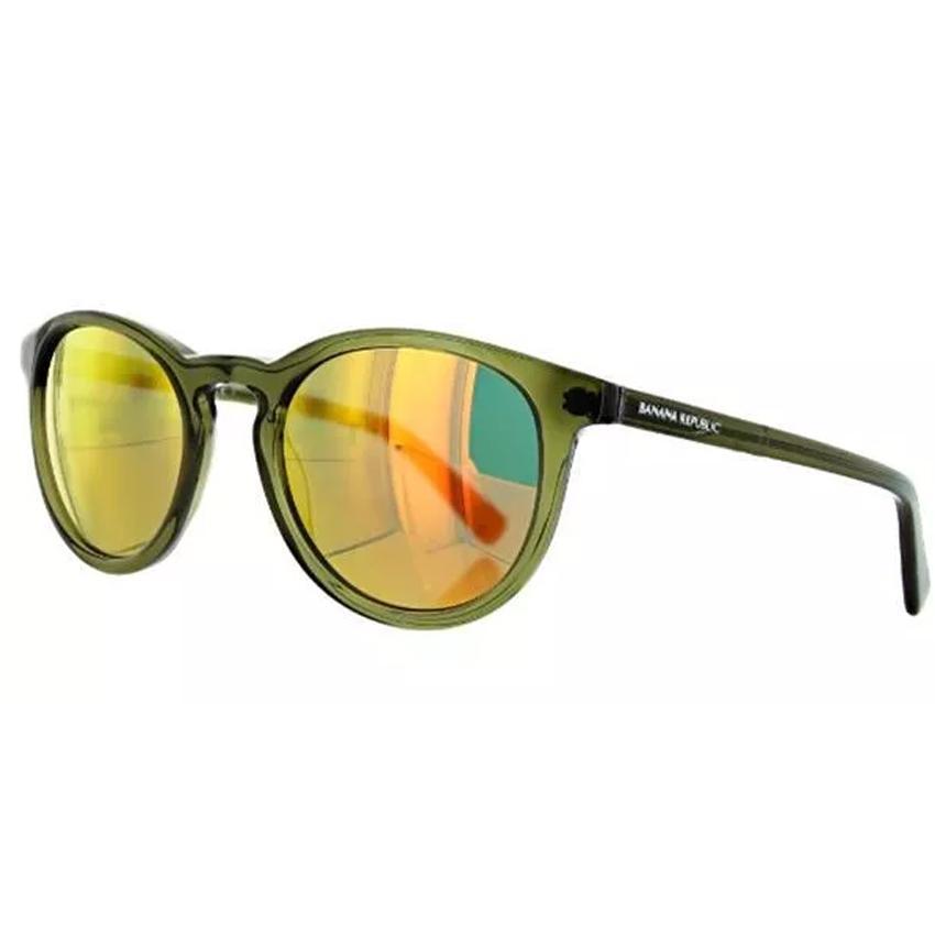 Banana Republic Johnny/S 0TP1 Men's Olive Crystal Frame Gold Mirror Lens Sunglasses
