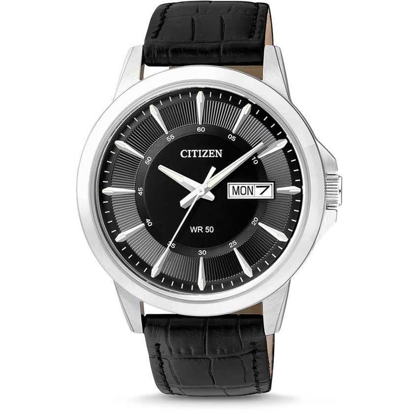 Citizen BF2011-01E Men's Quartz Analog Leather Medium Watch