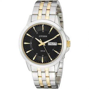 Citizen BF2018-52E Men's Quartz Black Dial  Bracelet Medium Watch