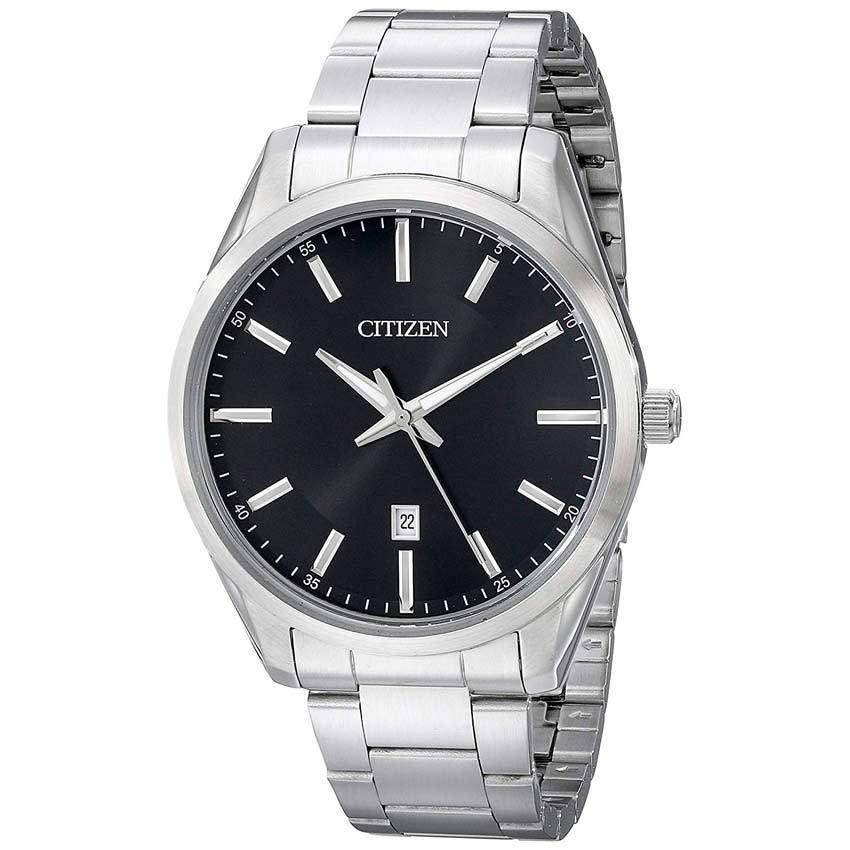 Citizen BI1030-53E Men's Quartz Black Dial Stainless Steel Bracelet Watch
