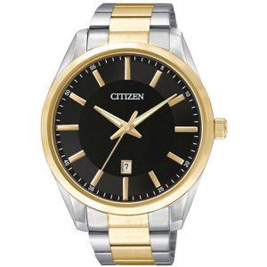 Citizen BI1034-52E Men's Quartz Black Dial Two Tone Bracelet Watch