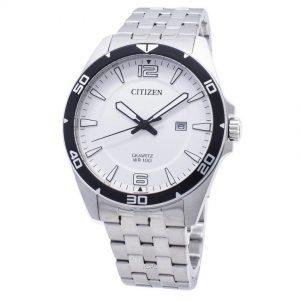 Citizen BI5051-51A Men's Stainless Steel Analog White Dial Watch