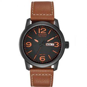 Citizen BM8475-26E Men's Chandler Eco-Drive Black Dial Brown Leather Watch