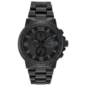 Citizen CA0295-58E Men's Night Hawk Eco-Drive Black Chronograph Watch