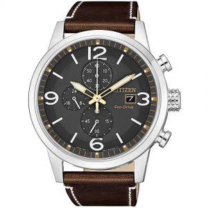 Citizen CA0618-26H Men's Eco-Drive Chronograph Calf Leather Watch