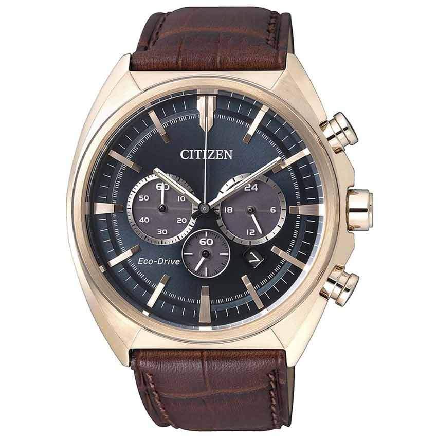 Citizen CA4283-04L Men's Eco-Drive Chronograph Rose Gold Case Watch