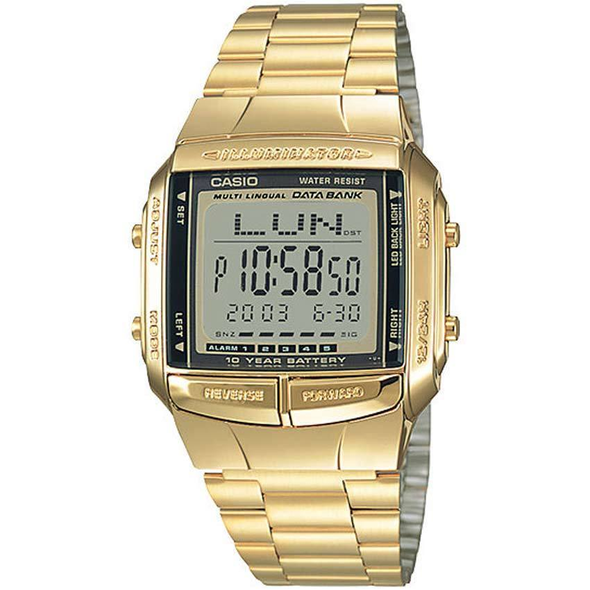 CASIO UNISEX DB-360G-9ADF METAL BASIC DATA BANK SMALL SIZE WATCH