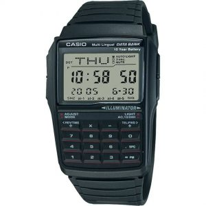 Casio DBC32-1A Men's DataBank Black Digital Small Size Watch