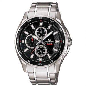 Casio Gent's EF-334D-1AVUDF Black Multi Dial Edifice Medium Watch
